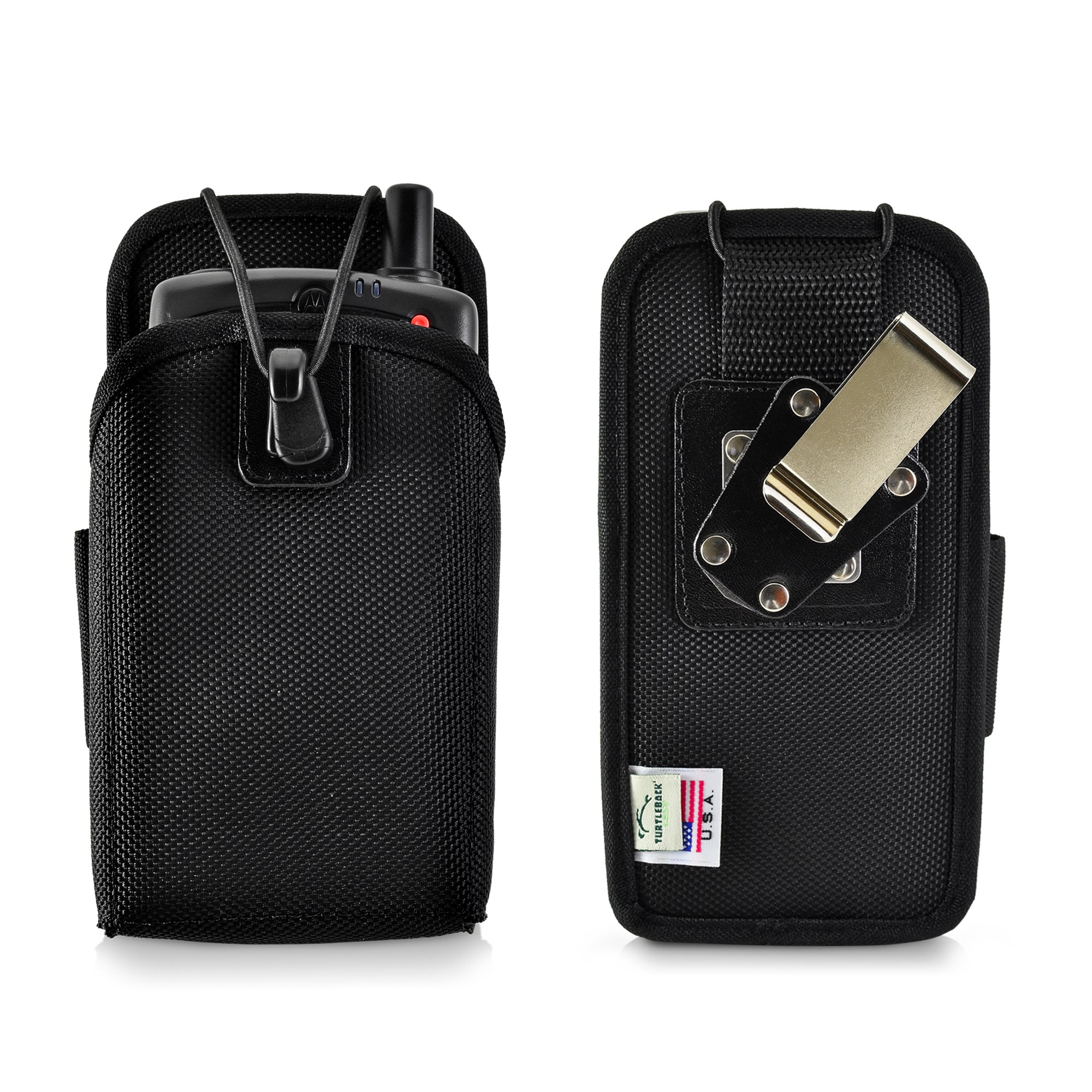 Turtleback Mobile Computer Case made for Zebra Motorola MC75 Touch Computer Nylon Holster, 2 Belt Clips (Metal Clip & Belt Loop) Mobile Scanner Holder Fits devices 6 1/2''X 3 3/8''X 1 3/4''