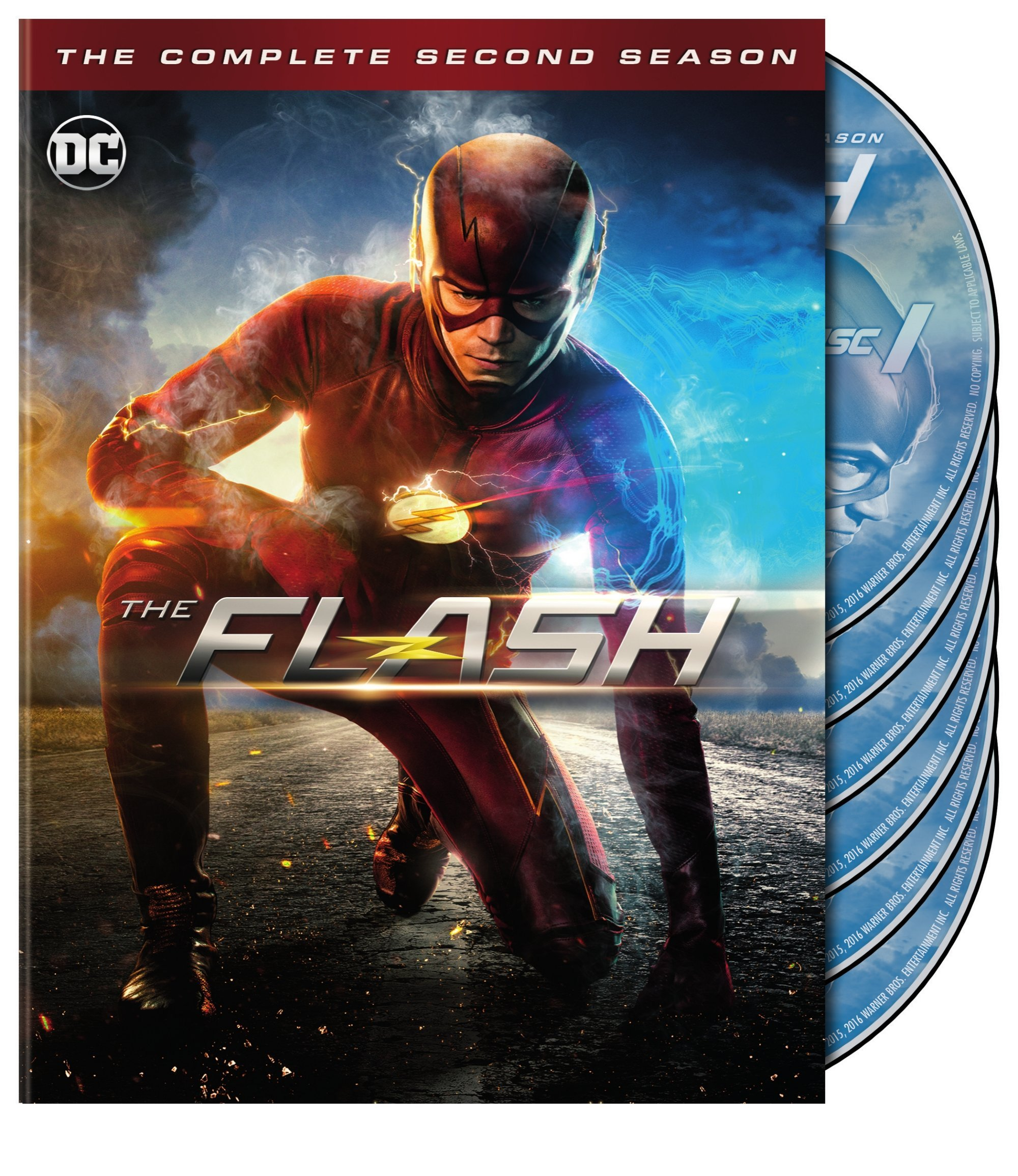 DVD : The Flash: The Complete Second Season (DC) (, Slipsleeve Packaging, Dolby, AC-3, 6 Disc)
