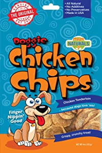 All Natural Chicken Chips- Dog Treats (Small- 4 oz. bag)