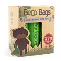 Beco Bags - Value Pack - 270 Strong Large Poop Bags for Dogs - Eco Friendly and Degradable with Anti-tear, Unscented