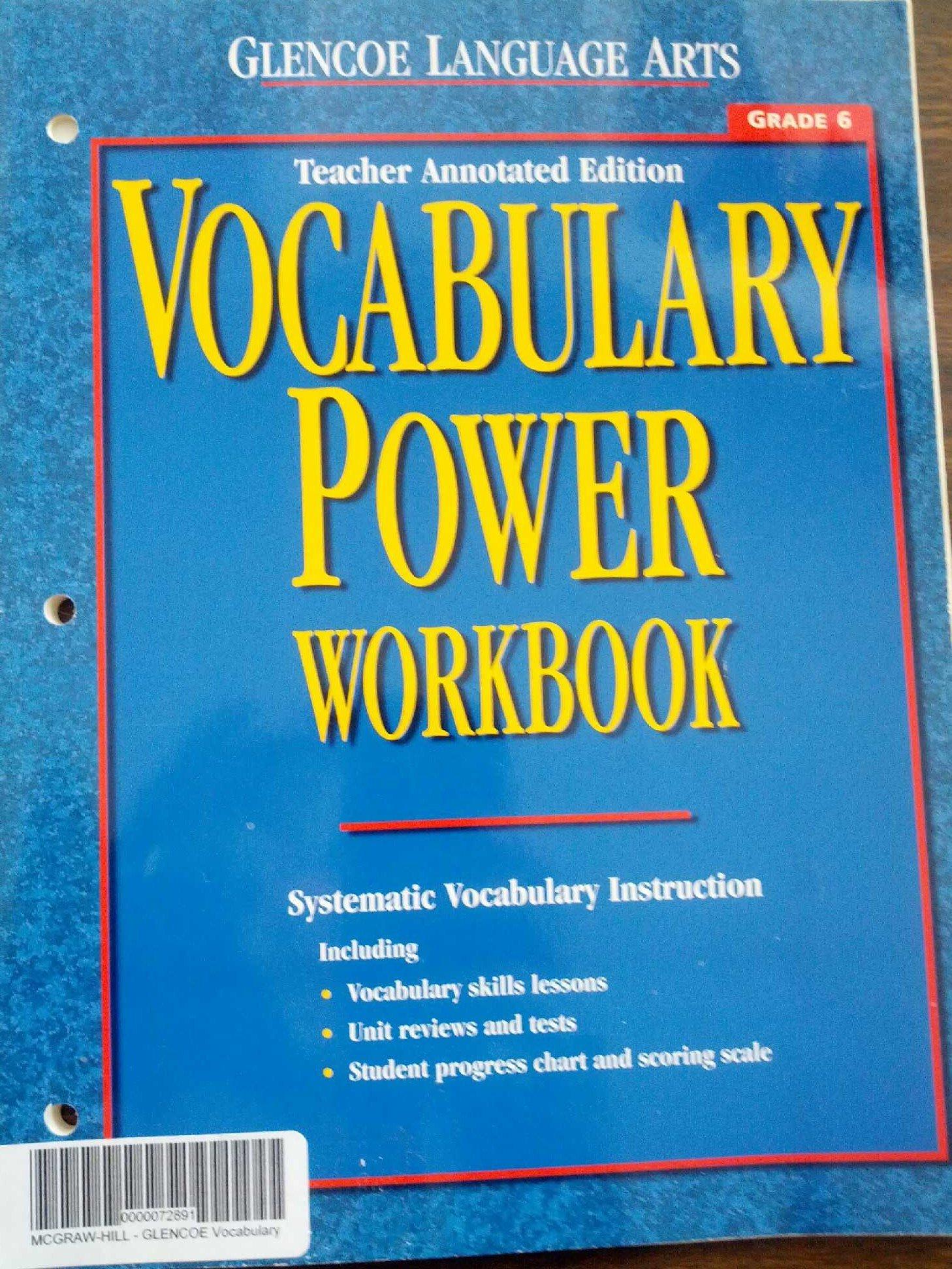 Vocabulary Power Workbook, Grade 6, Teacher Annotated Edition ...