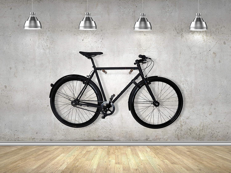 Relativ Die Fahrradhalterung aus Holz und Leder wurde in Handarbeit IU56