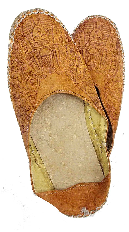 Camel Leather Slipper Shoes Sandal Flats Handemade Pharaoh TUT 438 B01HS5YXV6 EU 40 = US 7.5 = UK 6.5 = 28 CM|Light Brown