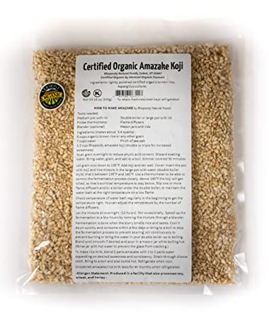 Rhapsody Natural Foods certificado orgánico Koji 16 oz (1 ...