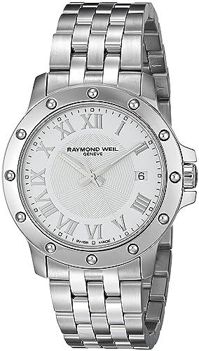 Raymond Weil 5599-ST-00308 - Reloj de Pulsera de Hombre, Correa de Acero Inoxidable Color Plata: Amazon.es: Relojes