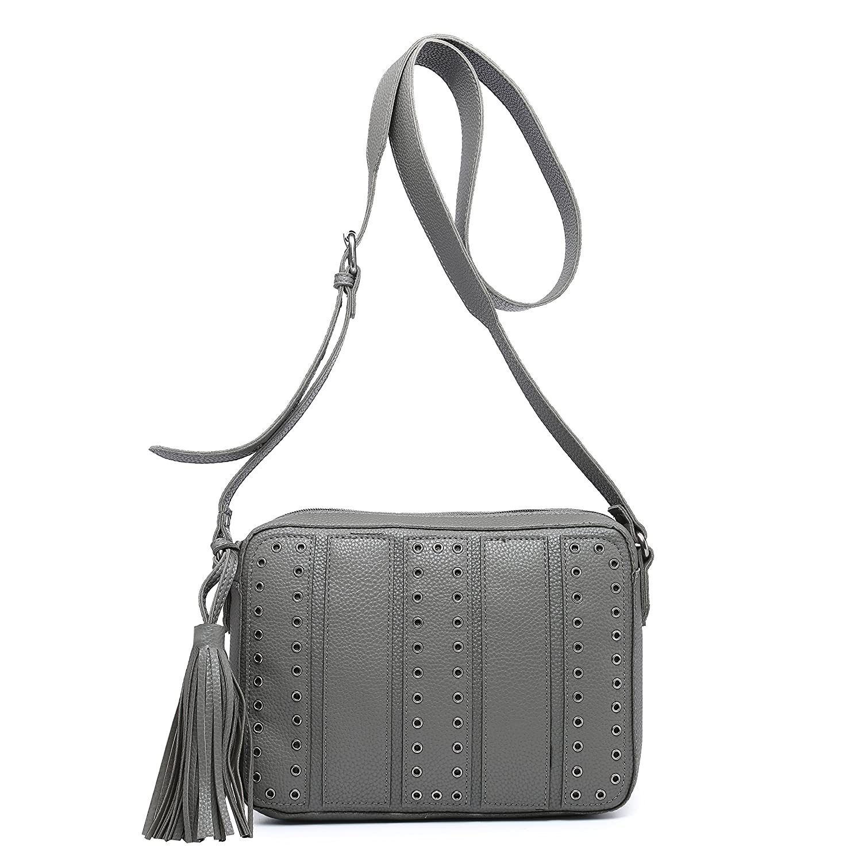 Small Crossbody Bags for Women Purse Faux Leather Handbags for Girls Teens  Stylish Studed Shoulder Bags (Grey)  Handbags  Amazon.com 1c2b35b9358b3