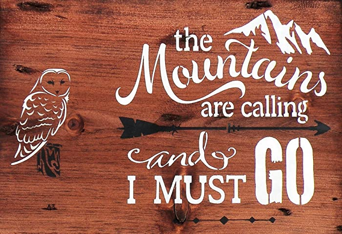 Amazon Com The Mountains Are Calling And I Must Go Rustic Wood Sign