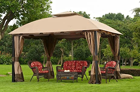 Sunjoy Replacement Canopy Set Deluxe Fabric for 11x13ft South H&ton Gazebo & Amazon.com: Sunjoy Replacement Canopy Set Deluxe Fabric for ...