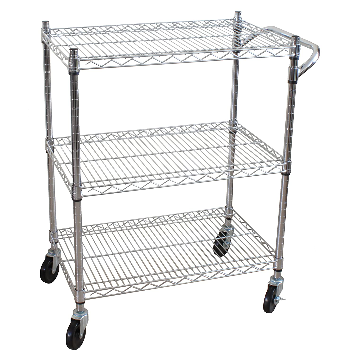 Amazon.com: Oceanstar 3 Tier Heavy Duty All Purpose Utility Cart, Chrome:  Home U0026 Kitchen