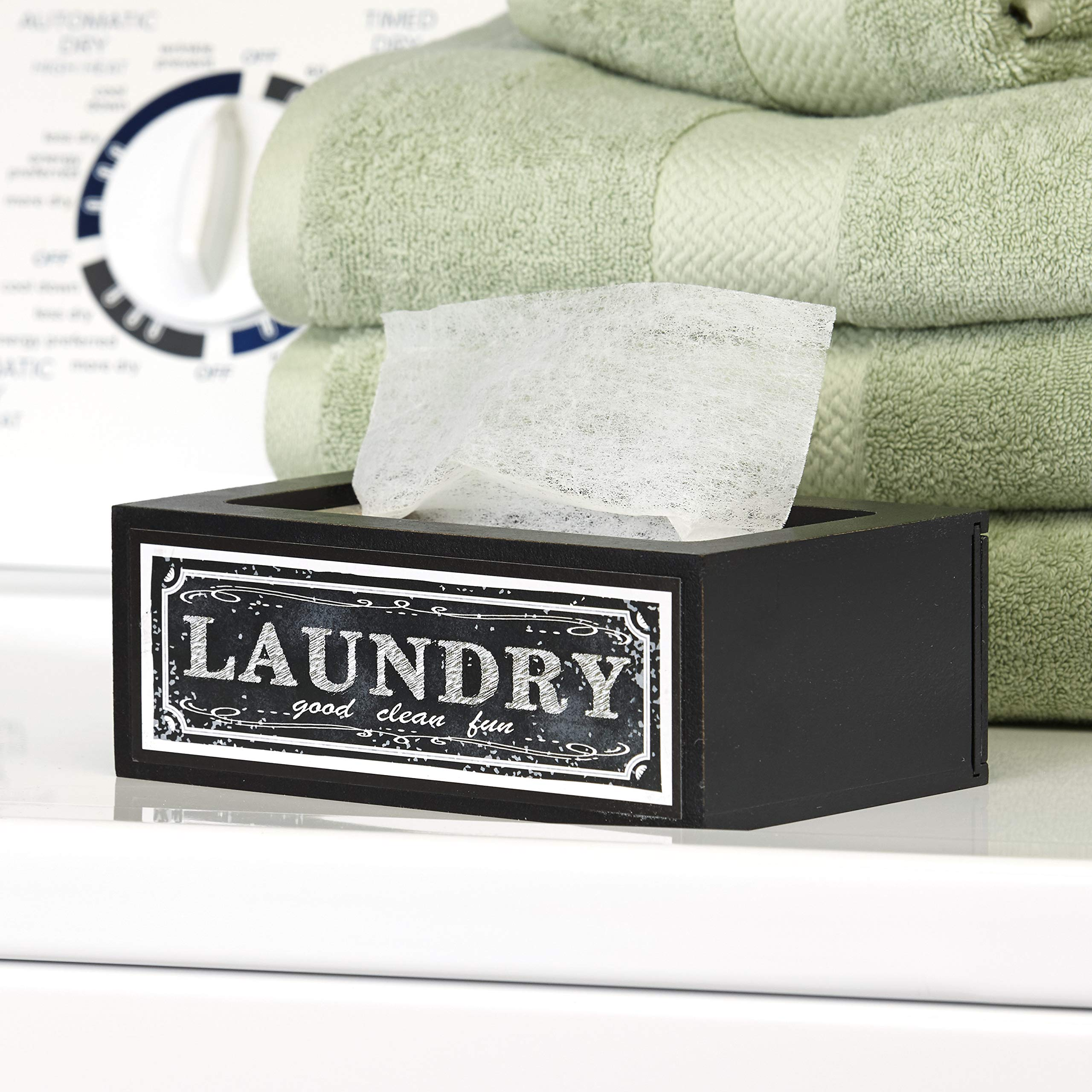 The Lakeside Collection Farmhouse Laundry Softener Dispenser Cover - Good Clean Fun