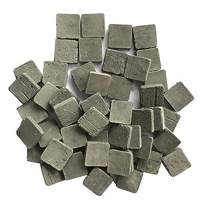 Lehung Scale 1/35 Miniature Bricks Square Tiles Mini Bricks Landscape Accessories 250pcs Gray: Toys & Games