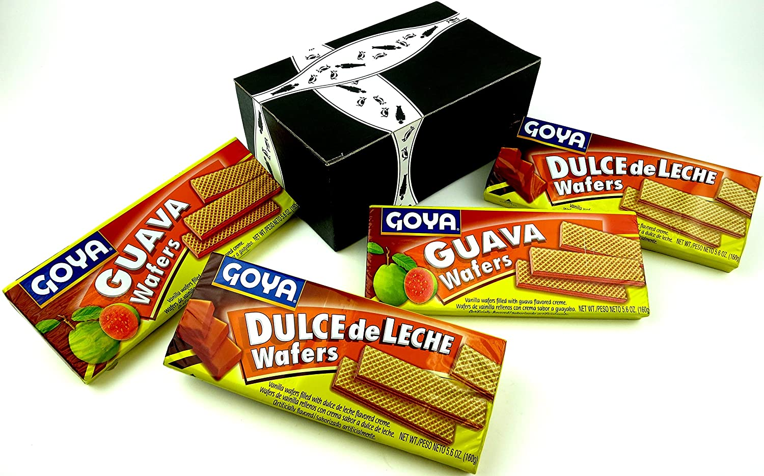 Amazon.com : Goya Wafers 2-Flavor Variety: Two 5.6 oz Packages Each of Guava and Dulce de Leche in a Gift Box : Grocery & Gourmet Food