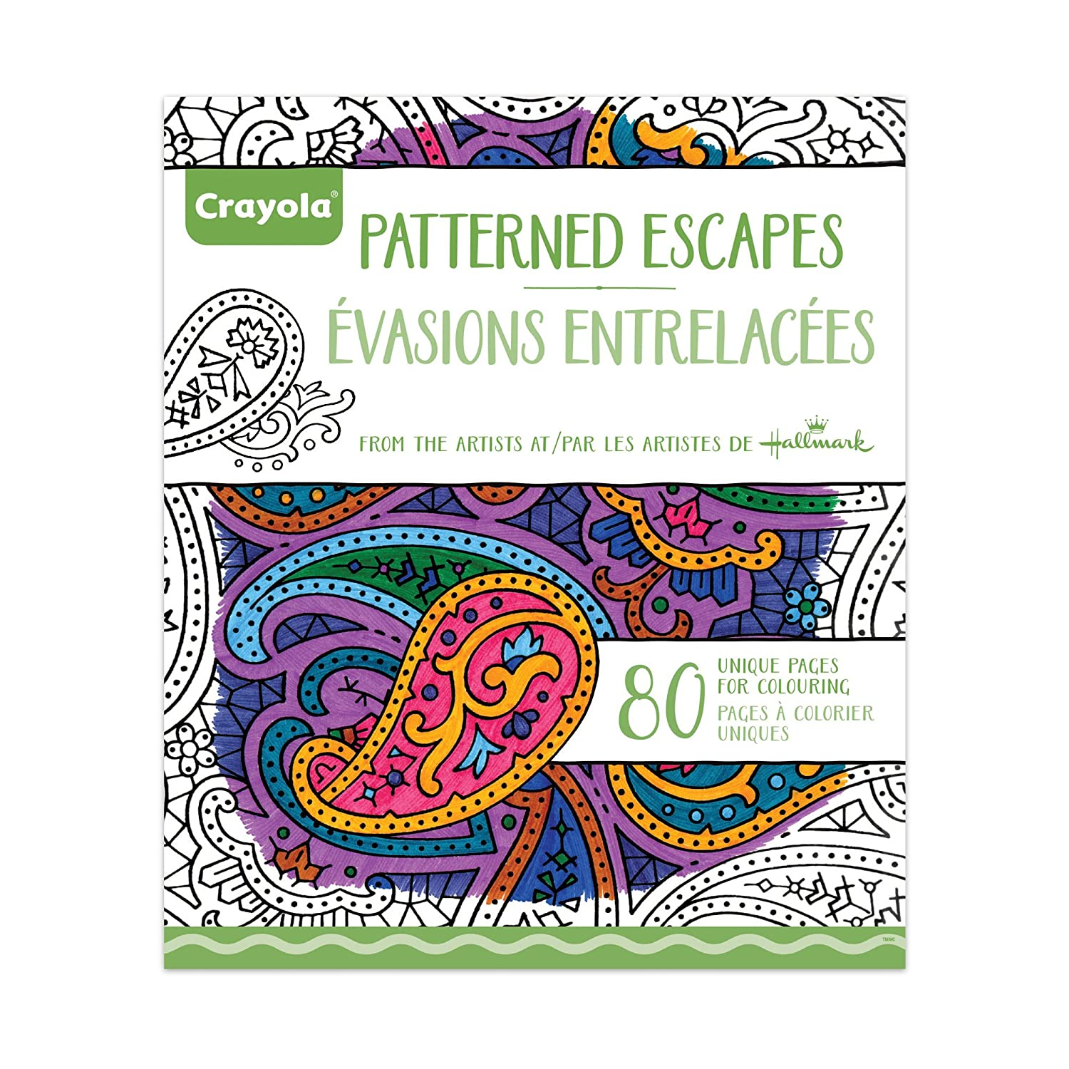 Crayola patterned escapes coloring book drawing sketch pads amazon canada