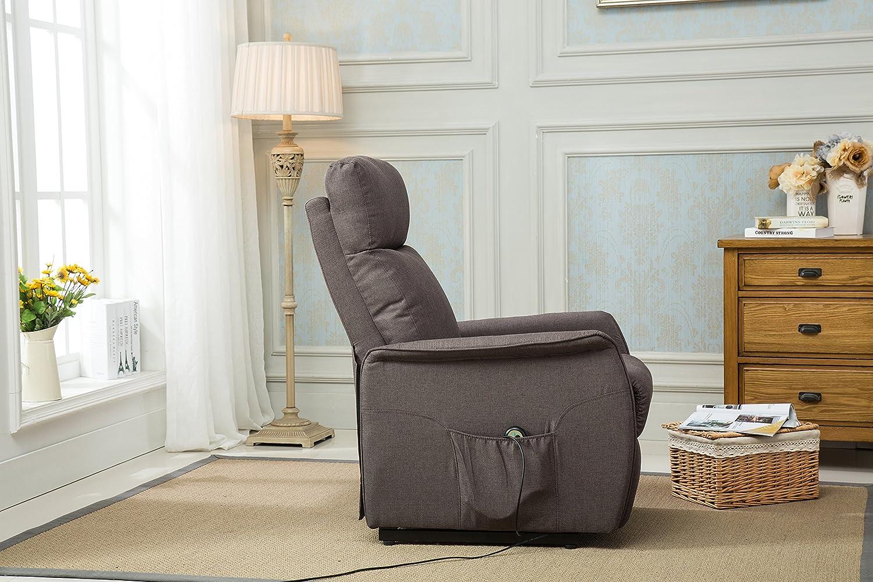 Amazon.com: Divano Roma Furniture Classic Power Lift Recliner Living ...