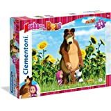 Clementoni - 24039-Puzzle super color maxi 24p - Maha and the Bear-Puzzles