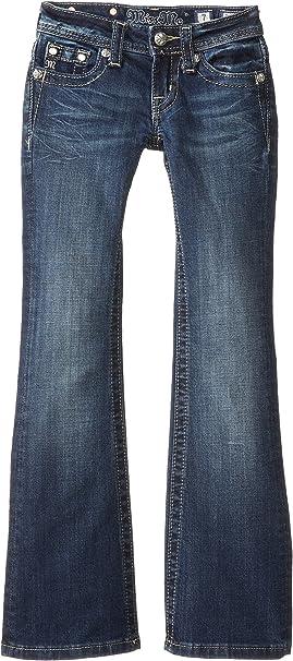 NEW MISS ME WOMEN/'S K929 FAUX LEATHER FLEUR DE LIS POCKET  BOOT CUT PANTS JEANS