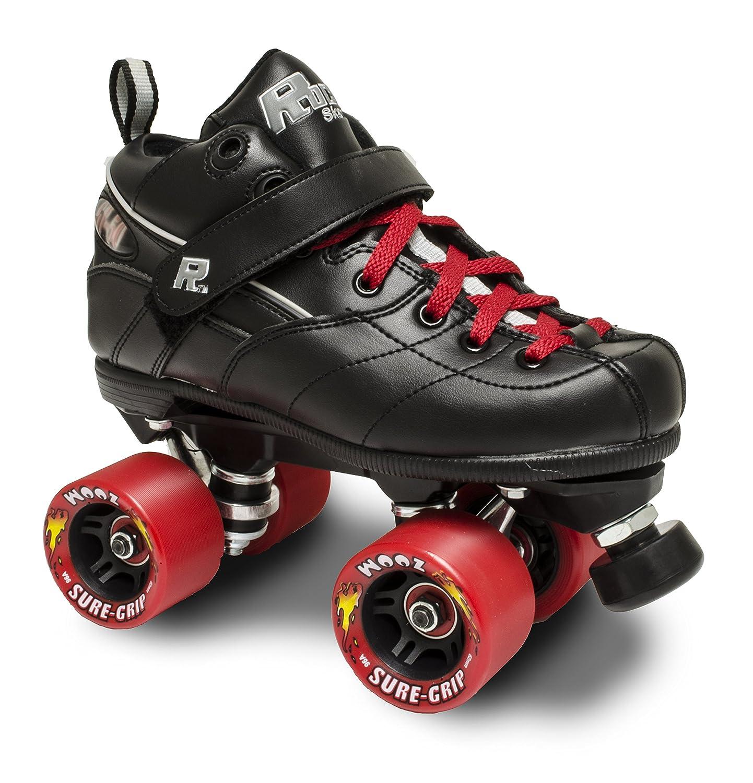 Rock gt50ズームRoller Skates 日本正規代理店品 w レッドズームとレッドレース Mens B01MSQENTY 在庫処分 Womens 13 14