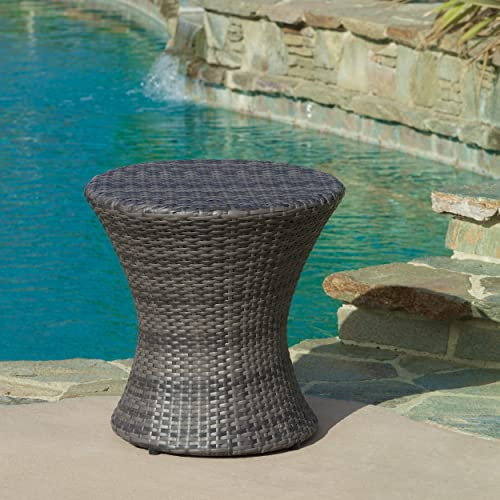 Christopher Knight Home Adriana Outdoor PE Wicker Accent Table
