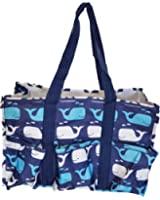 7 Pocket Fashion Print Tote Utility Bag