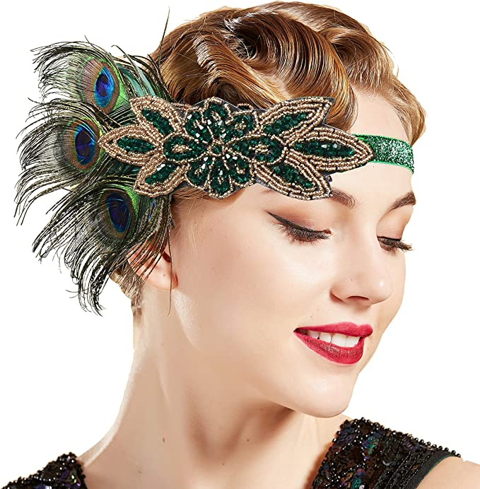 1920s Flapper Headband, Gatsby Headpiece, Wigs ArtiDeco 1920s Headpiece Vintage 1920s Headband Crystal Headband Flapper Headpiece with Crystal Great Gatsby Costume Accessories Roaring 20s Accessories £10.99 AT vintagedancer.com