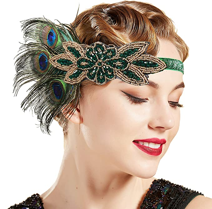Vintage Style Jewelry, Retro Jewelry ArtiDeco 1920s Headpiece Vintage 1920s Headband Crystal Headband Flapper Headpiece with Crystal Great Gatsby Costume Accessories Roaring 20s Accessories £10.99 AT vintagedancer.com