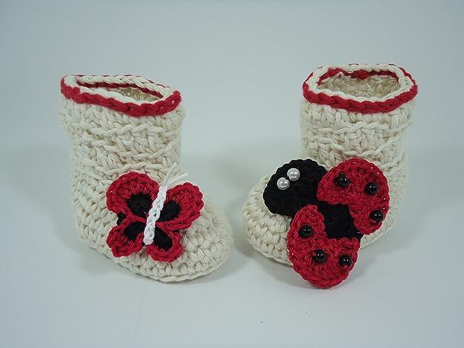c746ca01a Amazon.com  Crochet Baby booties