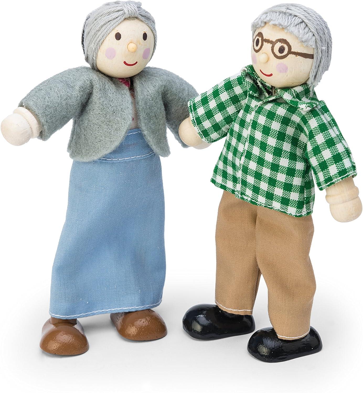 Le Toy Van - Wooden Grandparents Play Set for Dolls Houses | Daisylane Dolls House Accessories Sets - Suitable for Ages 3+
