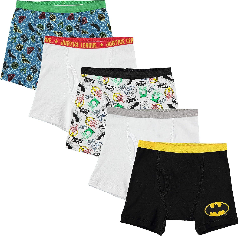 DC Comics Boys Justice League 5 Pack Boxer Briefs Underwear