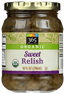 365 Everyday Value, Organic Sweet Relish, 10 fl oz