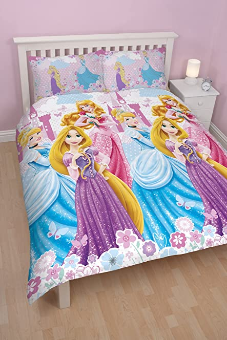 Disney Princess Dreams Double Rotary Duvet Set: Amazon.co.uk ... : disney princess quilt cover - Adamdwight.com