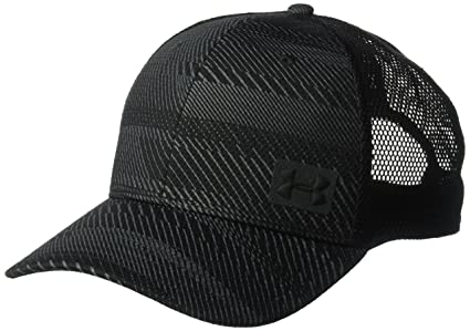 Under Armour Mens Blitz Trucker Cap, Black (003)/Black, One Size