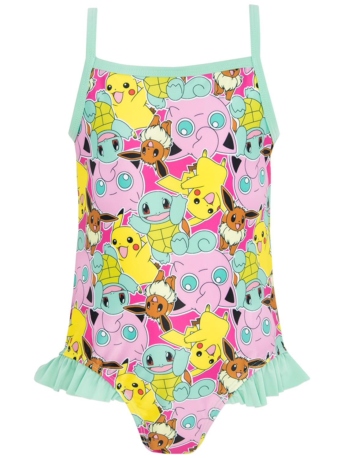 d8a8658b6d090 Pokemon Girls Swimsuit Ages 5 to 12 Years: Amazon.co.uk: Clothing