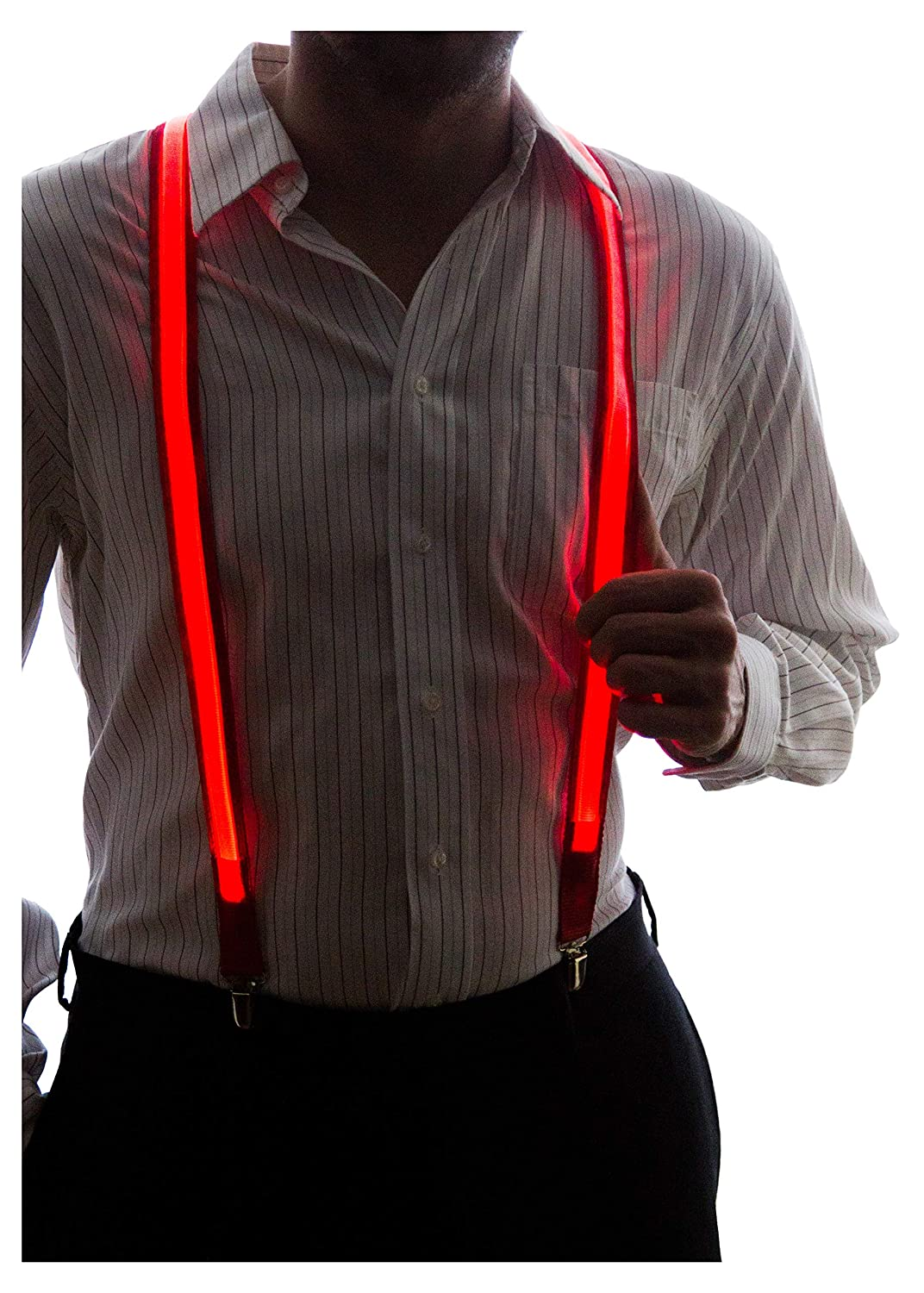 Neon Nightlife Light Up LED Suspenders hommes Taille Bleu SUSPENDERS-BLUE