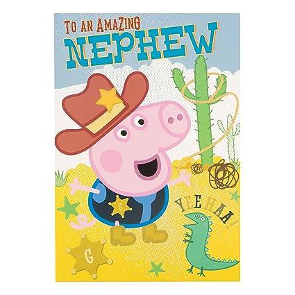 Amazon Peppa Pig To An Amazing Nephew George Cowboy Birthday