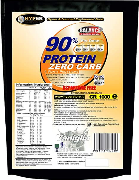 Batidos/Shakes de Proteínas Reemplazo de comidas Adelgazantes Vanilla Gr 1000 Dieta de proteínas Pérdida de peso Sin aspartamo con vitaminas 90% de ...