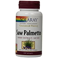 Solaray Saw Palmetto Berry Extract, 160 mg   120 Count