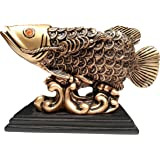 Feng shui golden arowana fish statue figurine for Arowana tank decoration