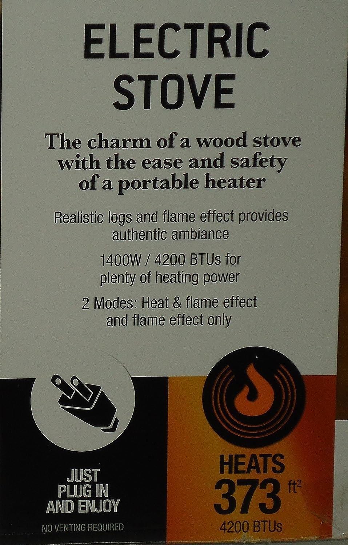 amazon com decor flame electric fireplace heater stove 1400w 4200