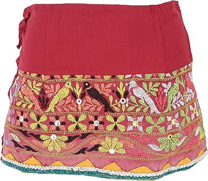Guru-Shop - Minifalda de estilo boho bordada, para mujer, algodón ...