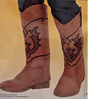 Amazon.com: Cowboy Boot Top Covers Costume Accessory: Toys & Games
