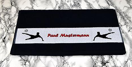 Toalla de baño toallas negro - diseño de fútbol de nombre