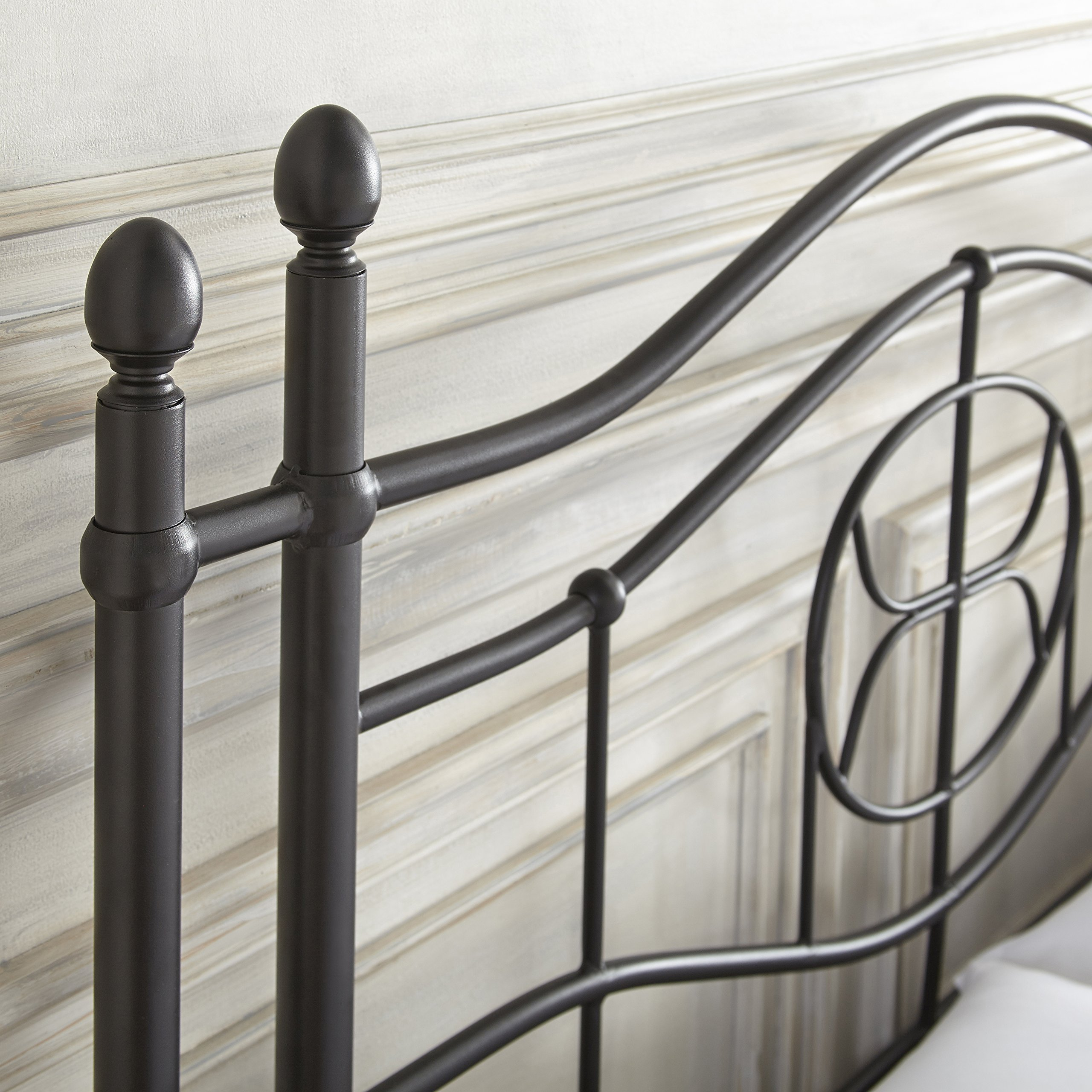 Flex Form Evie Metal Platform Bed Frame / Mattress Foundation with Headboard and Footboard, Queen by Flex Form (Image #3)