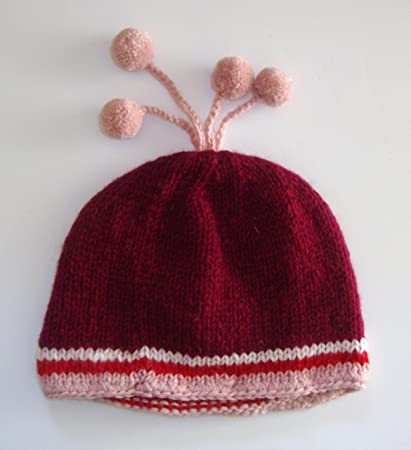 94993f03ee4 Image Unavailable. Image not available for. Color  Hand Knitted Maroon High  Quality Woolen Hat