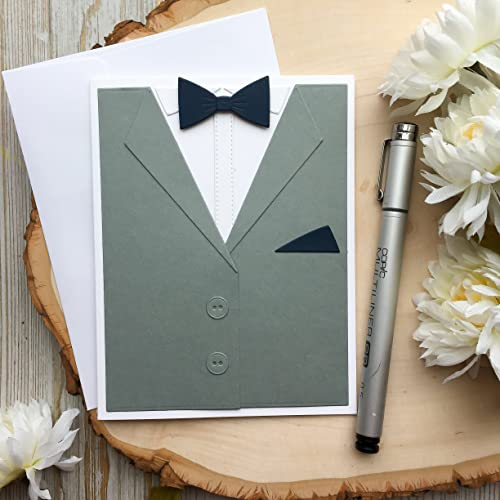 Amazon Com Fathers Day Card Tuxedo Birthday Card Dads Day Card