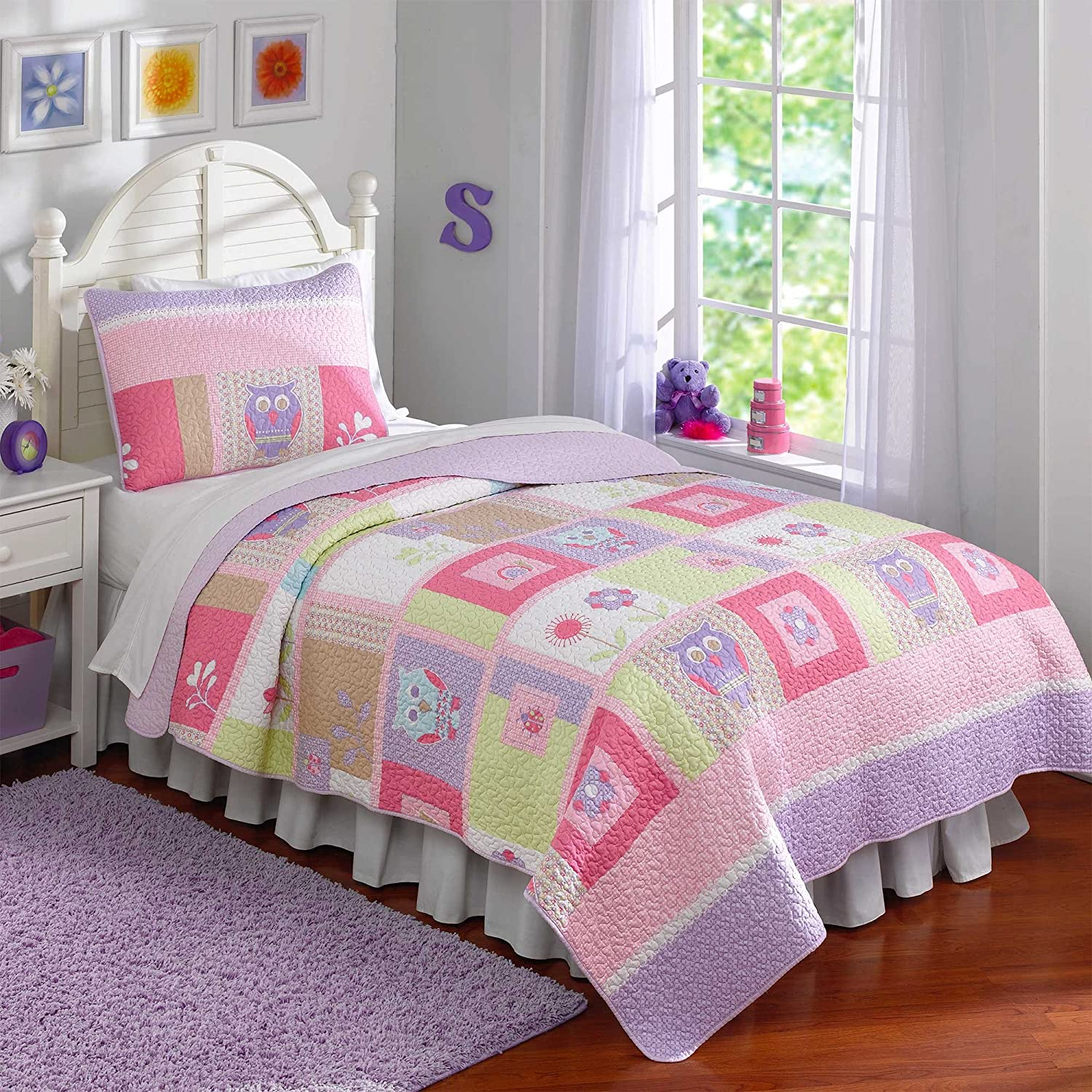 Pem America Happy Owls Quilts, Twin