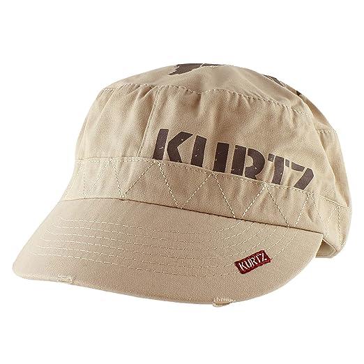 fe8cd9ba87f A. Kurtz Vintage Short Crown Army Cap Casual Baseball Cap Adjustable Hat -  Beige