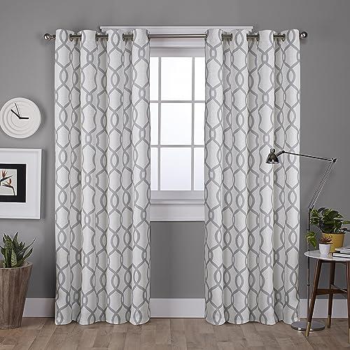 Exclusive Home Curtains Kochi Linen Blend Grommet Top Curtain Panel Pair