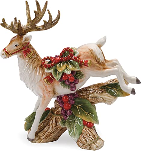 Regal Holiday Collection, Leaping Deer Candleholder, Legs Down