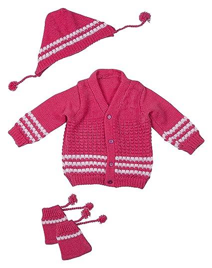 36ac19c5e010 Desi mart Baby Boy s and Baby Girl s Vardhman Woollen Knitted Baby ...