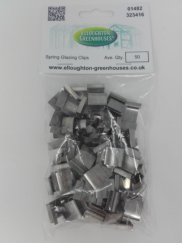 Clips de fixation en plastique pour serre rondelles pour isolation de serre en aluminium Lot de 50 clips verts clips de fixation 50 rallonges L. 50 rondelles